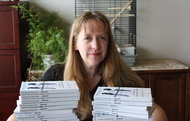 See, it's real.  Here I am with stacks of beautiful, traditionally published books I wrote myself