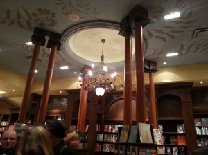 The ceiling in Ben McNally Books on Bay Street