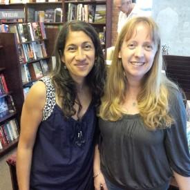 Padma Viswanathan and me at Audreys Books
