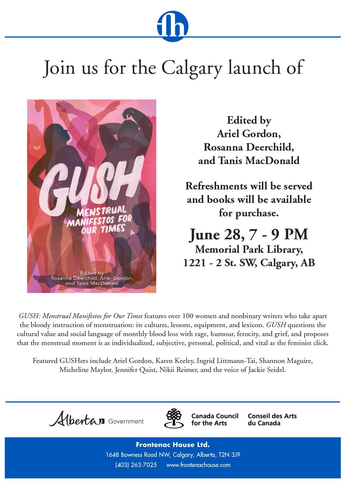 GUSH YYC launch flyer